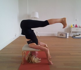 Yoga Düsseldorf (Oberkassel), YogaKitchen, Feet-up Yoga Workshop mit Annette Böhmer