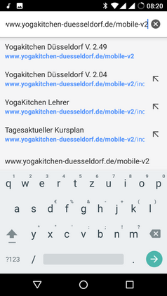 Startscreen der YogaKitchen iphone App